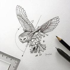 Geometric Owl Tattoo Designs - Geometric Owl Tattoo Design Tattoos on Brilliant Owl Tattoo Design Ideas That Youll Insp Owl Tattoo Design, Tattoo Designs, Tattoo Ideas, Design Tattoos, Geometric Drawing, Geometric Shapes, Geometric Animal, Geometric Owl Tattoo, Tattoo Abstract