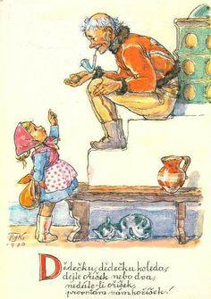 Marie Kvěchová-Fischerová 1970 Aa School, School Clubs, Vintage Art, Vintage World Maps, Easter Pictures, Believe In God, The Kingdom Of God, Czech Republic, Vintage Children
