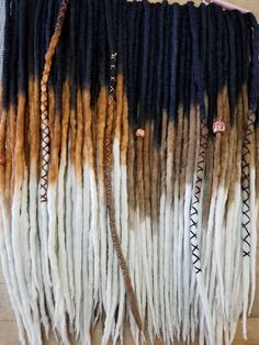 Check out this item in my Etsy shop https://www.etsy.com/listing/493964605/wool-dreadlocks-custom-wool-dreads