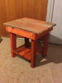 Exceptionnel SMALL TABLE WITH SHELF: Try This Project If You Have Some Spare Barn Wood  Lying