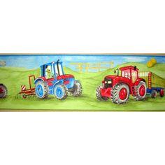 Tractor Green Wallpaper Border 5m