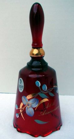 Fenton Ruby Glass bell... love the deep ruby coloring