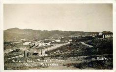 Homes near Temescal Canyon -- Post Card: Pacific Palisades,California.