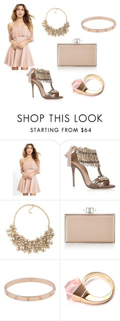 """""""Outfit 404"""" by kalexandria123 ❤ liked on Polyvore featuring LULUS, Casadei, Carolee, Judith Leiber, Cartier and Gucci"""