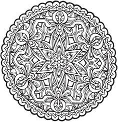 Star Mandala To Color