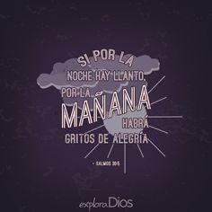 Si por la noche hay llanto, por la mañana habrá gritos de alegría. –Salmos 30:5