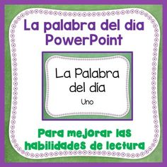 Spanish sight words for FREE! Play this PowerPoint presentation for your…