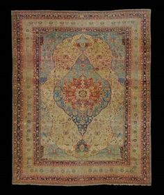 MOHTASHAM KASHAN CARPET  Central Persia, Late 19th Century  Approximately 13 ft. 3 in. x 10 ft. 6 in. (404 x 320 cm.) I Christie's Sale 1682