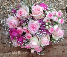 Roses, Hydrangea and Gyp, Handtied bouquet