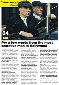 Interview of Cillian Murphy