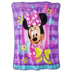 Disney® Minnie Mouse Throw - Purple/Pink (45