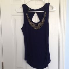 Navy tank top Navy tank top worn once bought from Kohls Tops Tank Tops