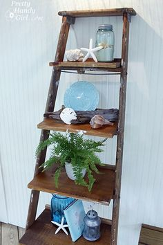 Old Ladder As A Display