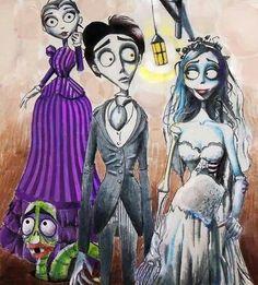Featured On Tim Burton Art Tattoo Corpse Bride Movie, Emily Corpse Bride, Tim Burton Corpse Bride, Tim Burton Art, Tim Burton Films, Nursery Rhyme Characters, Tim Burton Characters, Halloween Images, Cartoon Images