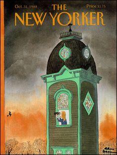 Charles Addams The New Yorker, New Yorker Covers, Halloween Art, Holidays Halloween, Vintage Halloween, Vintage Witch, Halloween Images, Top Vintage, Vintage Art
