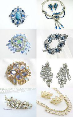 Juliana Gems, vintage rhinestone jewelry on Etsy from the VJSE team