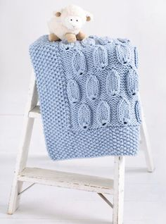 Unique blanket pattern for baby.