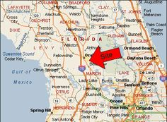 ocala fl on florida map