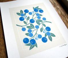 Wild Blueberry Giclee Print by CindyLindgren on Etsy, $30.00