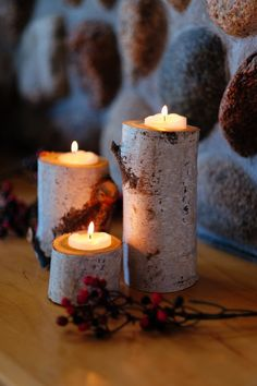 """Each set includes 3 candleholders measuring 6""""H, 4""""H, 2""""H with a 2-3""""W. The candle branch holder will hold a tea candle up to 1 ¾"""" in diameter."""