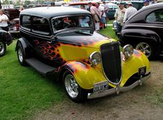 Flaming Ford indeed! 1933 Ford Sedan