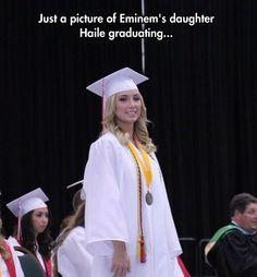Hailie Jade Scott Mathers, daughter of Marshall Mathers (Eminem) and Kim Scott graduated Michigan's Chippewa Highschool on June See Hailie's graduation . Eminem Rap, Eminem Quotes, Hailie Jade, Marshall Eminem, The Real Slim Shady, Eminem Slim Shady, Rap God, Best Rapper, All Grown Up