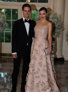 Set to wed:Snapchat founder Evan Spiegel is celebrating his engagement to Miranda Kerr, DailyMail.com can exclusively reveal; the couple are seen here in May