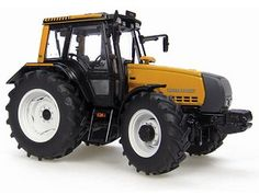 This Valtra Mezzo Hi-Tech 6850 Diecast Model Tractor is Orange and features working wheels. It is made by Universal Hobbies and is 1:32 scale (approx. 15cm / 5.9in long).  ...