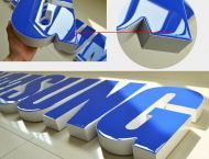 Colors Return Resin Face Lit Channel Letters Rimless Zinc Coated Steel UL Listed LED Signage Illuminated