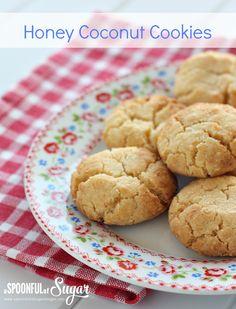 Honey Coconut Cookies