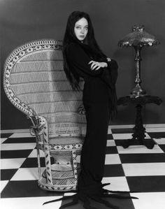 Carolyn Jones as Morticia Addams - Nice pose