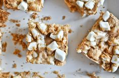 Serve Up These No-Bake Peanut Butter Marshmallow Squares via Brit + Co.