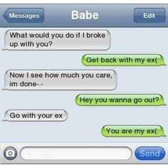 If we broke up..