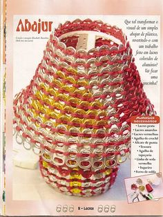 #crochet pull tab lamp shade => picture tutorial