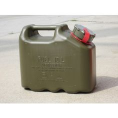 NEW IN: The Scepter US Military Spec Field Olive Green heavy-duty plastic gas cans. You can carry petrol, diesel, kerosene, lubricants and other automotive fluids. Shop Now: