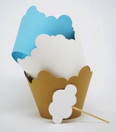Cloud Cupcake Wrappers In your choice of color Qty 12 by YourlittleCupcake on Etsy https://www.etsy.com/listing/263054124/cloud-cupcake-wrappers-in-your-choice-of