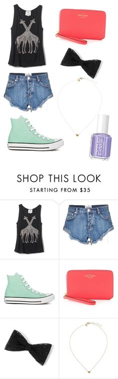 """""""Untitled #8"""" by desmaraismacy ❤ liked on Polyvore featuring TOMS, One Teaspoon, Converse, Kate Spade and Essie"""