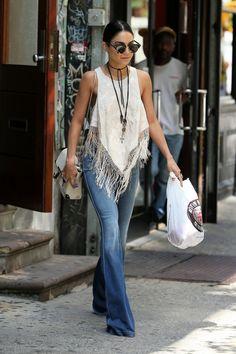 vanessahudgensfashionstyle:    Vanessa Hudgens leaving her apartment in NYC (June 17)