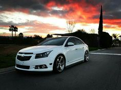 White Chevy Cruze