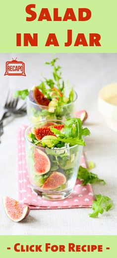 Simple, healthy and portable;  salad in a jar recipe. This and other ideas are great alternatives to the simple PB&J brown bag lunch.