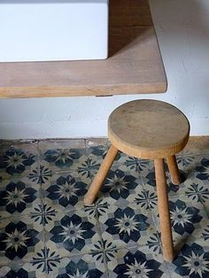 Stool On Patterend Tile