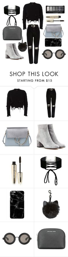 """""""dream in fashion"""" by kelseysimone ❤ liked on Polyvore featuring adidas Originals, River Island, Chloé, Gianvito Rossi, L'Oréal Paris, Miss Selfridge, Christopher Kane and MICHAEL Michael Kors"""