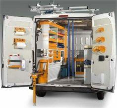 Garage Tool Storage, Van Storage, Garage Tools, Van Organization, Van Shelving, Van Racking, Mobile Workshop, Mobile Storage, 3d Modelle