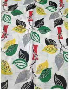 1950s leaf fabric