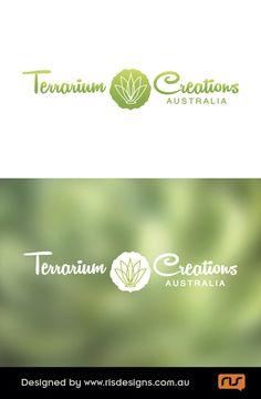 Terrarium Creations for home décor, exotic succulents & air plant creations. Logo by RIS Designs. www.risdesigns.com.au Graphic Design Studios, Logo Design, Terrarium, Plant Logos, Digital Media, Air Plants, Decoration, Graphic Art, Creations