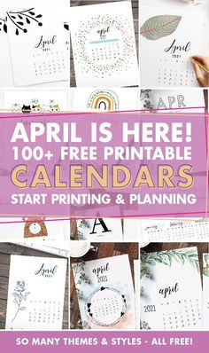 Download an amazing free printable calendar for April 2021! There are so many styles to choose from and they are all free! Free Printable Calendar, Free Printables, Free Printable Banner, Printable Planner, Printable Wall Art, Bullet Journal Contents, Organize Your Life, 2021 Calendar, Free Courses
