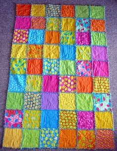 Tute for Raggedy Edges Quilt.  Would be great for Zoe's bed.