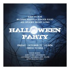 Full Moon Halloween Party invitation