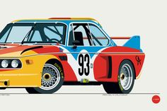 "1975 BMW 3.0 CSL ""Batmobile"" in Calder Art Car Livery"