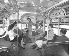 """St Louis Buses - Notice the Pevely Evaporated Milk Ad """"From BABIES to BISCUITS - its Pevely Evaporated Milk"""" - Bus Public Transportation - 1940s 1950s - St Louis Vintage Photographs (photo pic Saint Louis MO Missouri history historic)"""